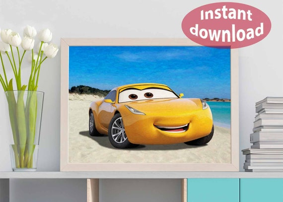 Disney Art Digital Print Disney Cars 3 Cruz Ramirez Disney Etsy
