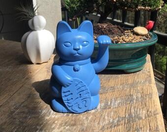 """5"""" Modern Lucky Cat -Maneki Neko Cat - Beckoning Cat - Good fortune - Money - Home Decor"""