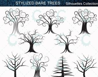Bare Christmas Tree Svg.Bare Trees Etsy
