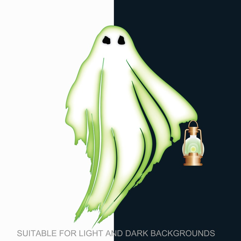 Halloween Ghosts 2D Vector Ghosts /& 3D photorealistic ghosts