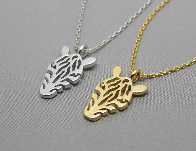 Zebra necklace Zebra charm Silver Zebra necklace Gold Zebra necklace Animal jewelry Animal lovers gift