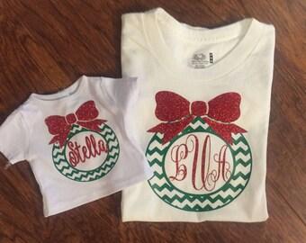 Doll and Me Christmas Shirts