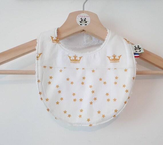 Personalised Bib Crown Bib ** plus de couleurs ** Bébé Cadeau Personnalisé Bébé Cadeau