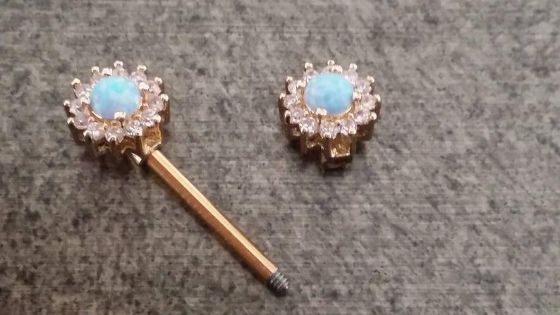 nipple rings girly nipple rings nipple jewel opal barbell pretty nipple barbell opal gold nipple rings nipple barbell ziron opal
