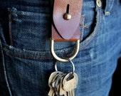 Leather Key Fob - EDC - Modern Keychain - Elegant - Every Day Carry - Husband Gift - Boyfriend  Gift - Groomsmen Gift