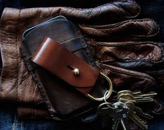 Leather Key Fob - EDC - Modern Keychain - Husband Gift - Boyfriend  Gift - Dad Gift - Groomsmen Gift