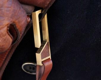 Modern Brass Keychain - Modern - EDC Gift