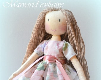 Rag doll Doll rag doll handmade Gift for girl Birthday gift   Doll bear Doll interior  Gift  for baby My first toy My first doll