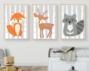 Kinderzimmer bilder etsy for Kinderzimmer bilder tiere
