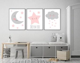 Kunst voor meisjes kamers etsy