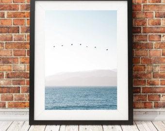 81d6ff42 Ocean photography, Sea wall art print, Water Poster, Hamptons style wall  art, Wave wall art, Beach house print, Coastal style wall art print