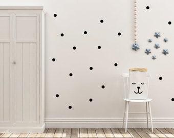 Schwarze Punkte, Wandtattoos, 92 Aufklebern, Kinderzimmer Wandaufkleber,  Wanddekoration, Kinderzimmer Aufklebern, Jungen Zimmer,