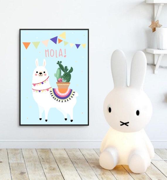 Plakat Do Samodzielnego Druku Dla Dziecka Pokój Dziecka Poster Plik Do Druku Lama Alpaka Plakat Prezent Urodziny Obrazek Boho