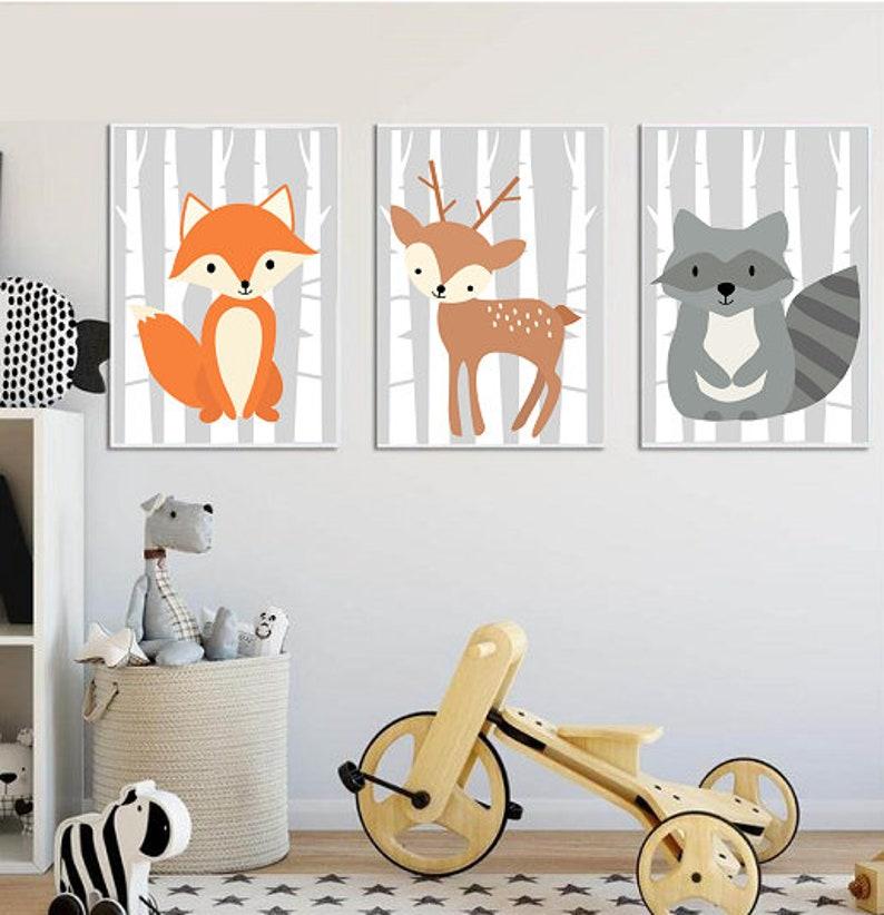 Plakaty Do Druku Zestaw Plakatów Do Pokoju Dziecka Zwierzątka Leśne Pliki Do Druku Zwierzęta Plakaty Dla Dziecka Do Pokoju Dziecka