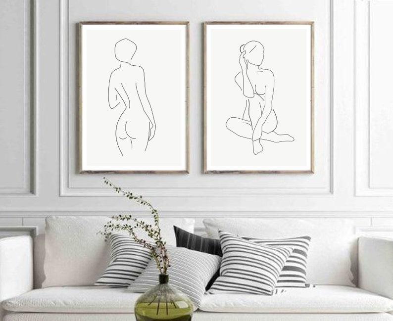 Framed Nude Wall Art