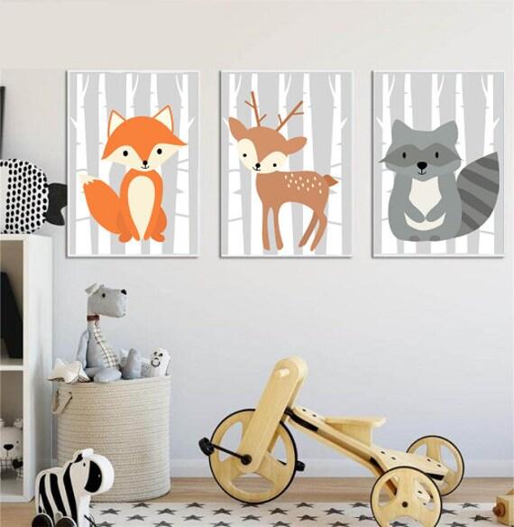 Plakaty Do Pokoju Dziecka Zwierzęta Leśne Dla Dziewczynki Dla Chłopca Do Pokoju Dziewczynki Do Pokoju Chłopca