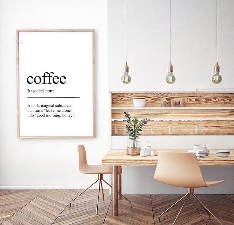 Plakat Kawa Kawa Definicja Plakat Do Kuchni Plakat Z Kawą Obraz Z Kawą Do Kuchni Plakat Do Kawiarni Prezent Dla Miłośnika Kawy