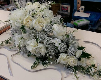 STUNNING  GYPSY QUEEN large Cascade Wedding Bouquet