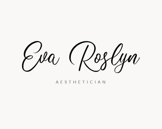 Aesthetician logo, Feminine logo template, Business logo design, Logo and  watermark, Small business branding, Elegant logo, Classic logo