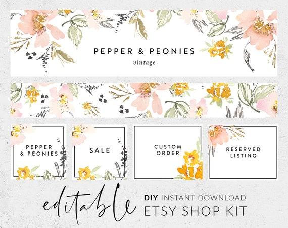 Etsy Shop Designs Etsy Shop Starter Kit Custom Etsy Shop Branding Custom Etsy Banner Custom Etsy Icon Custom Etsy Shop Kit Etsy