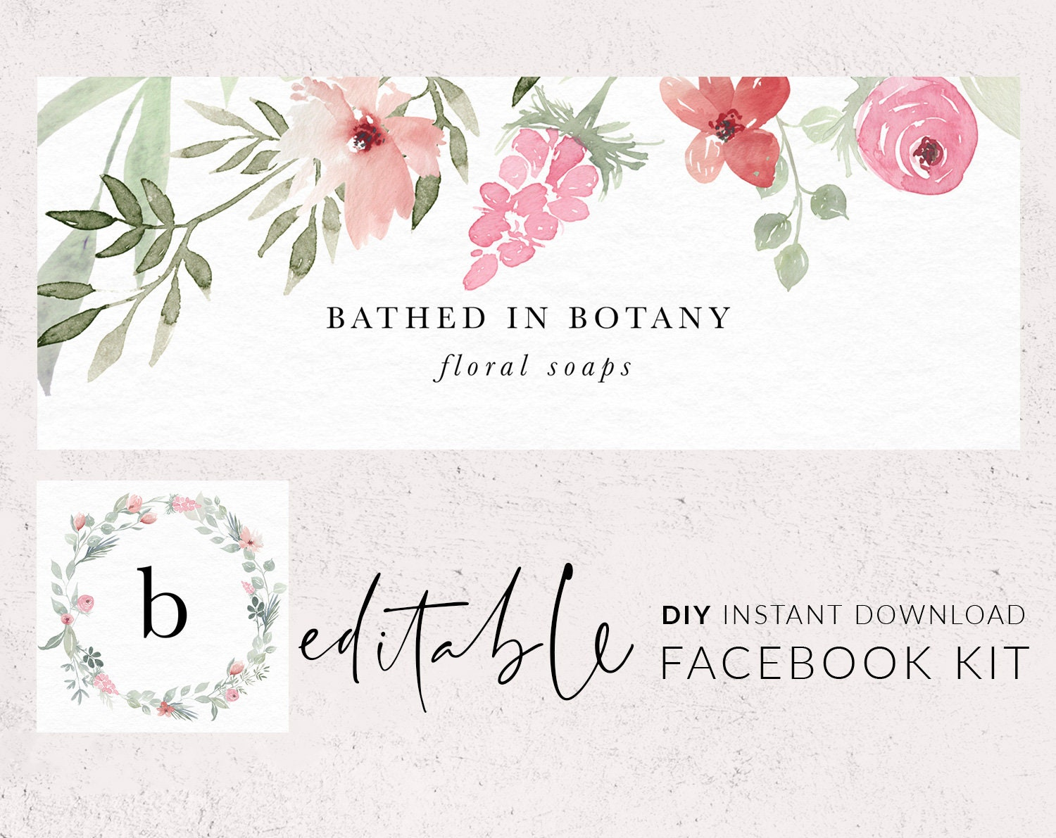 Facebook Cover Template Facebook Banner Instagram Icon Etsy