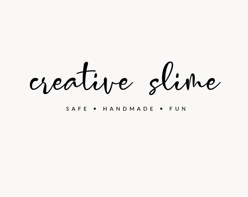 Logo Template Slime Logo Whimsical Logo Kids Graphic Etsy