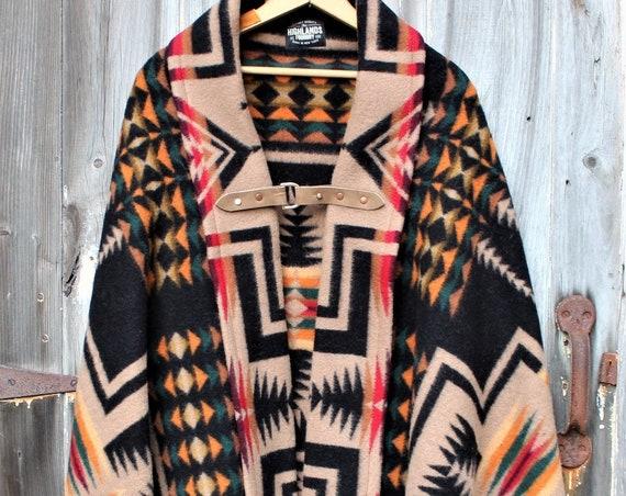 Wool Aztec Poncho