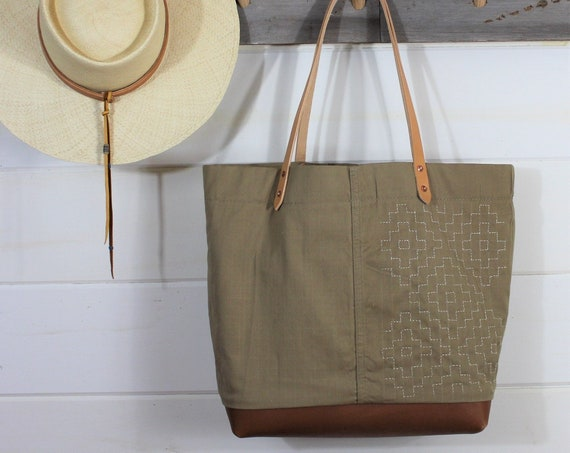 Sashiko Stitch Tote (SOLD)