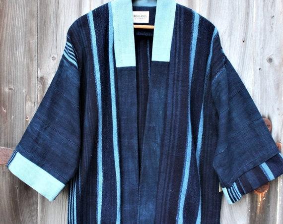 Indigo Stripe Haori Jacket
