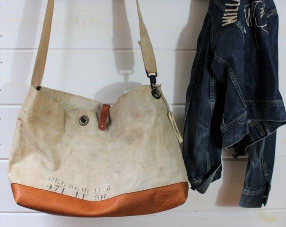 Canvas Naval Messenger Bag