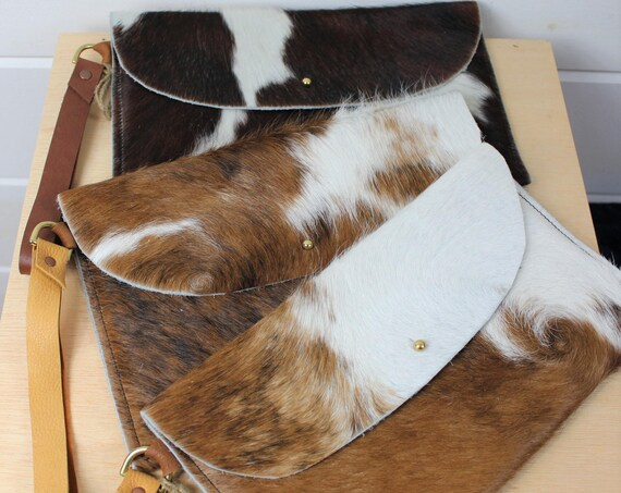 Cowhide Leather Wristlet
