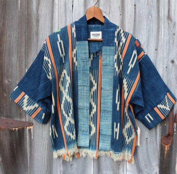 Indigo Ikat Haori Jacket