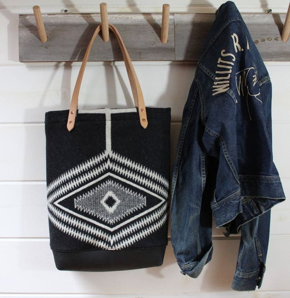 Wool + Leather Tote