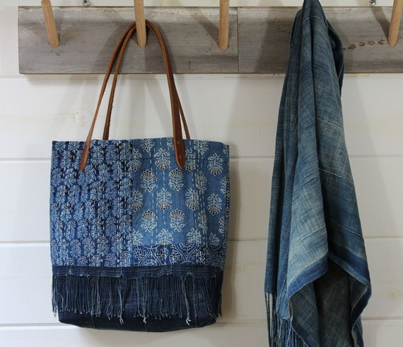 Patchwork Kantha Quilt Tote