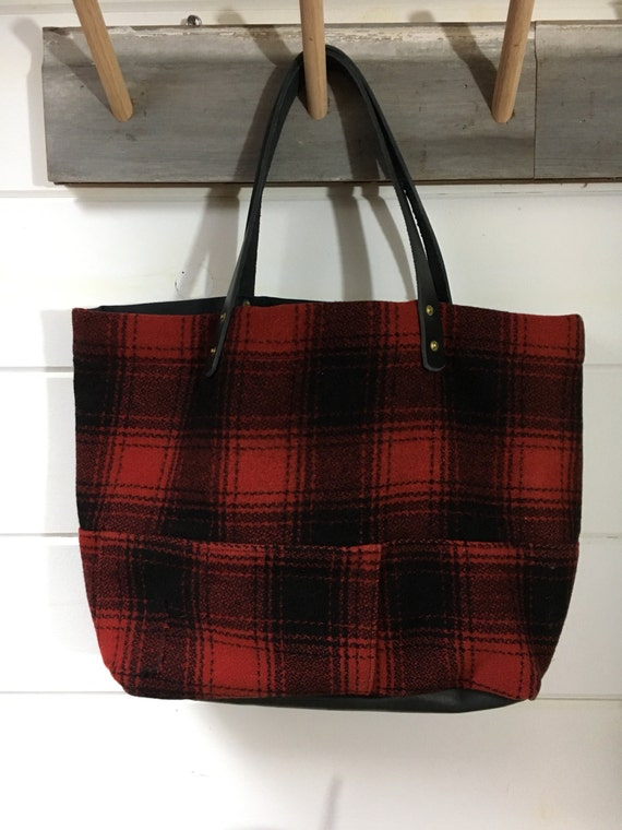 Wool Hunters Plaid Tote