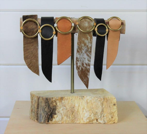 Lether + Cowhide Cuffs