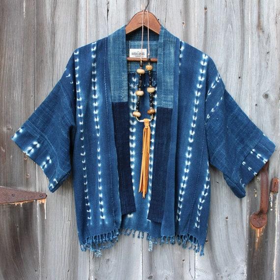 Indigo Shibori Haori Jacket