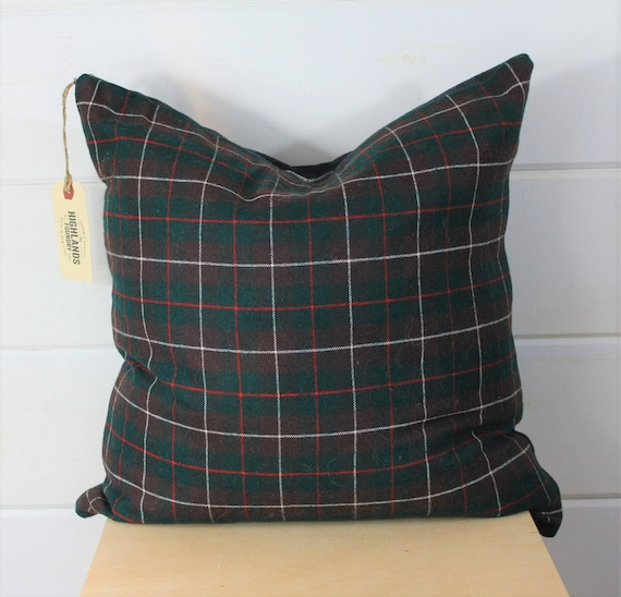 Wool Tartan Pillow Cover