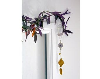 Ceramic wall hanging ǀ talisman ǀ boho decor ǀ stoneware art