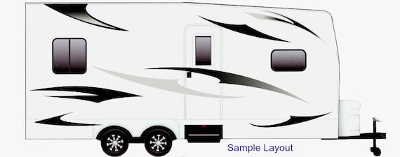 Grey Wolf Small RV Trailer Camper Motorhome Vinyl Graphic Decal