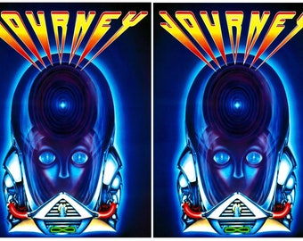Journey Side Art Panels Cabinet Graphics Stickers Reproduction