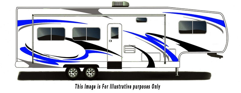 3e35996452451d RV Trailer Hauler Camper Motor-home Large Decals Graphics