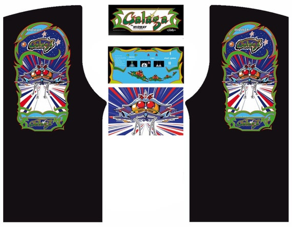 Multicade Galaga Series Arcade Cabinet Game Graphic Artwork Kickplate