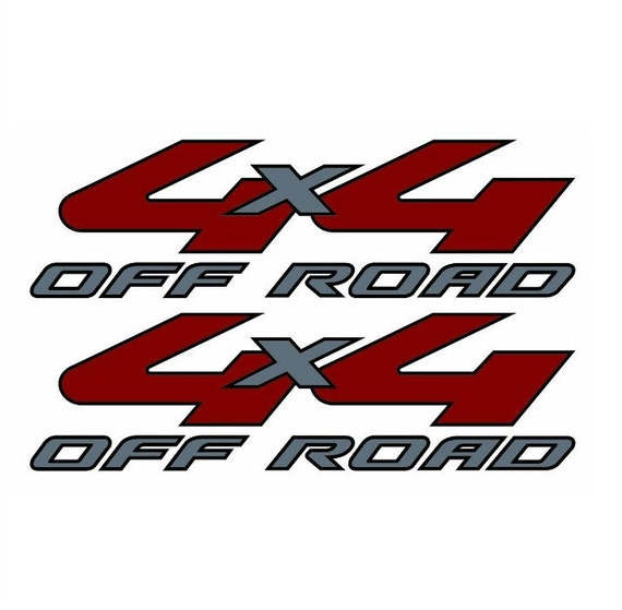 Pair 4x4 off road bed decals stickers ford chevy dodge truck