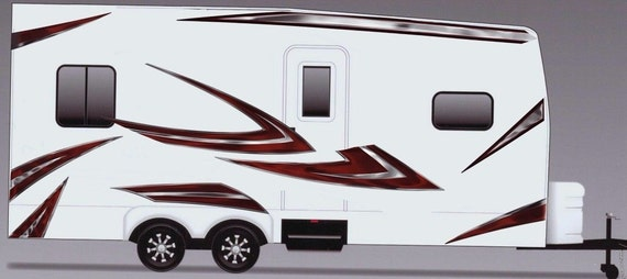 Motorhome Large Vinyl Decals//Graphics Kit-K-0004 Camper RV Trailer