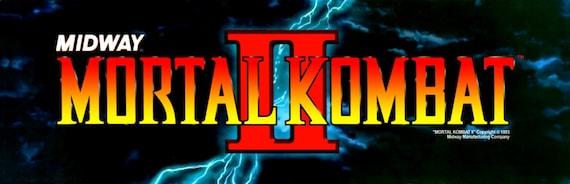 Mortal Kombat 2 Side Art Arcade Cabinet Artwork Graphics Decals Full Set