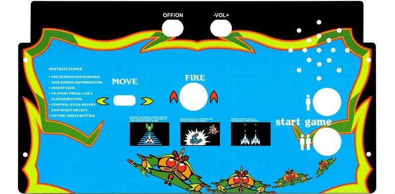Arcade 1up Cabinet Galaga CPO Overlay Deck Protector