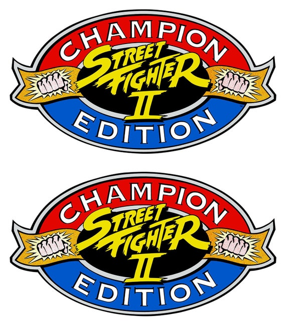 Street Fighter 2 Champion Edition Side Art Cabinet Graphic Etsy