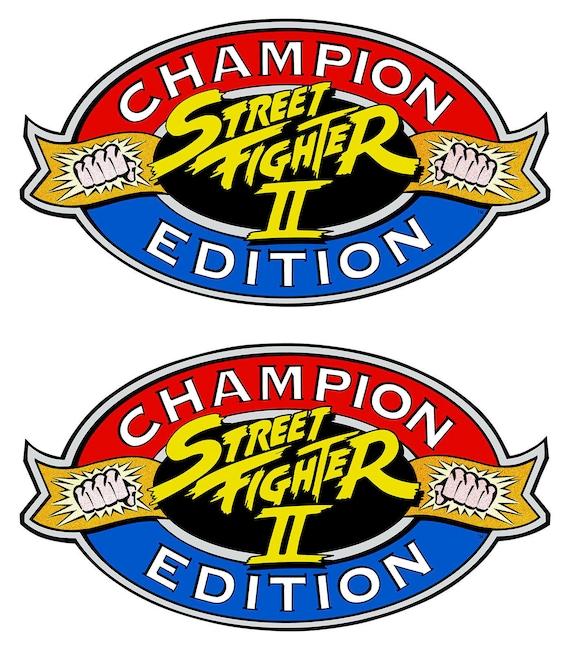 Street Fighter 2 Champion Edition Arcade Cabinet Graphics Etsy
