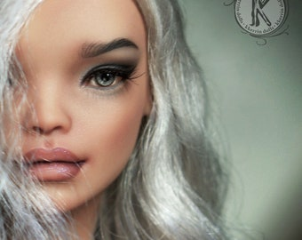 """Make-up, Wig for doll """"Mika"""" (27cm, resin)."""